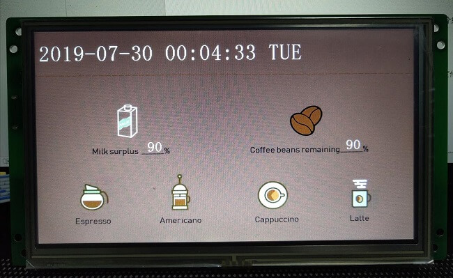 6-STONE-display-STM32-Coffee-Maker